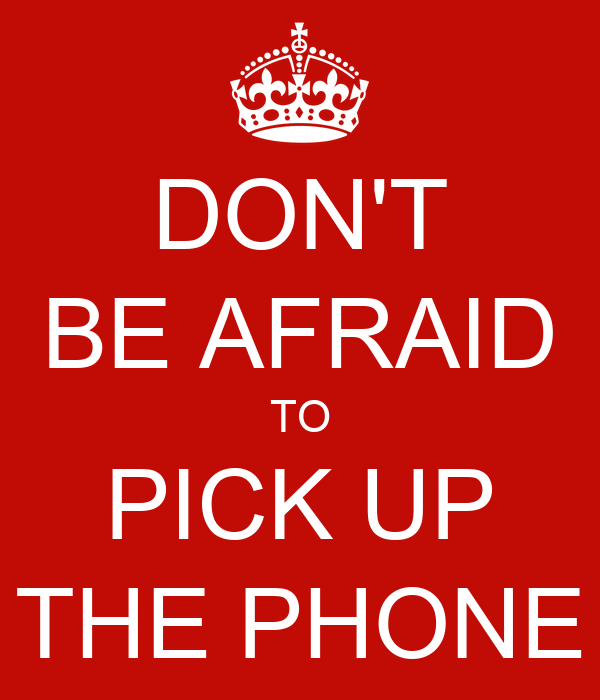 Image result for pick up the phone