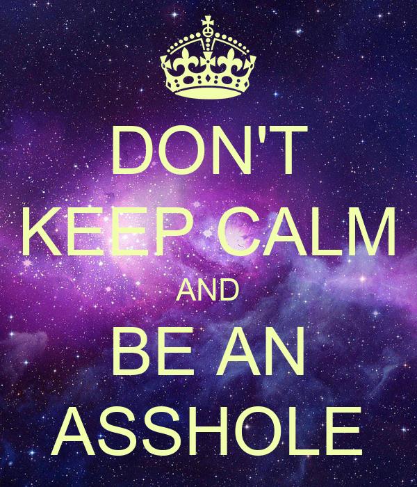 don t be an ass