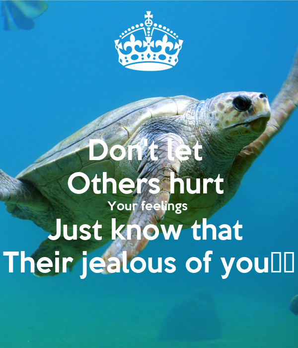 Don't Let Others Hurt Your Feelings Just Know That Their