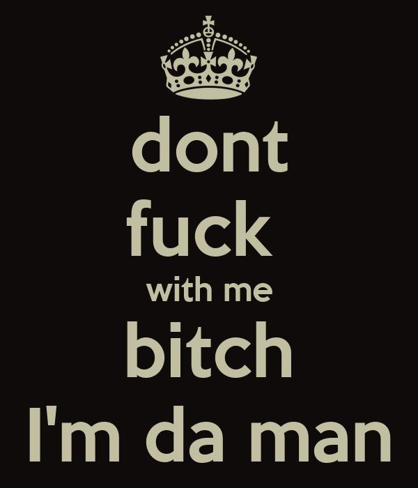 man with bitch