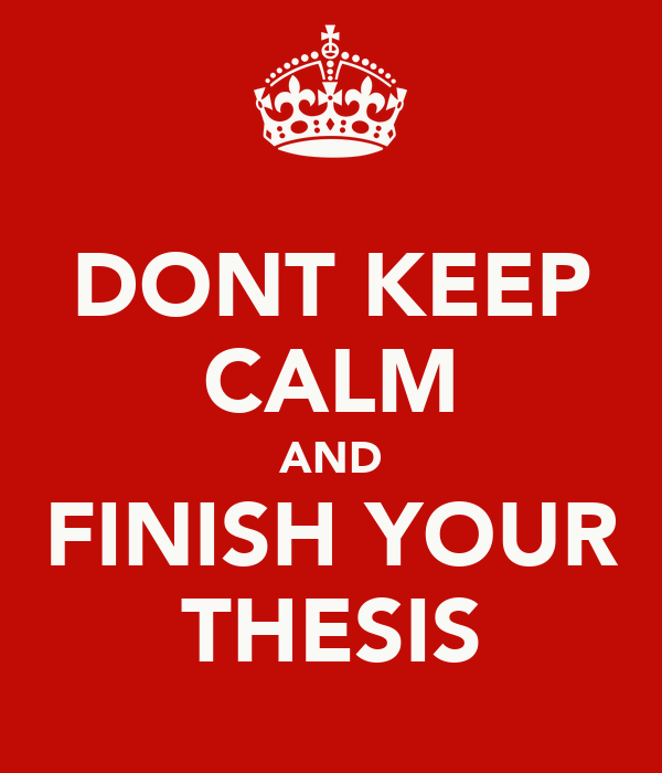 Finish thesis