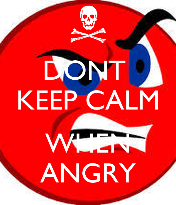 how to stay calm when your angry