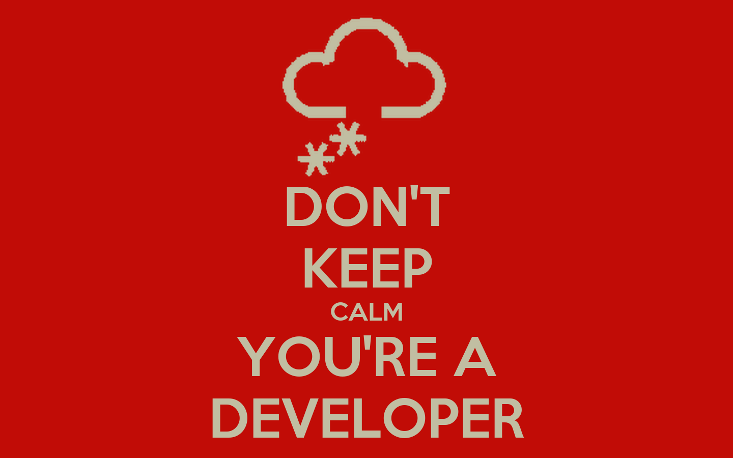 developer keep calm