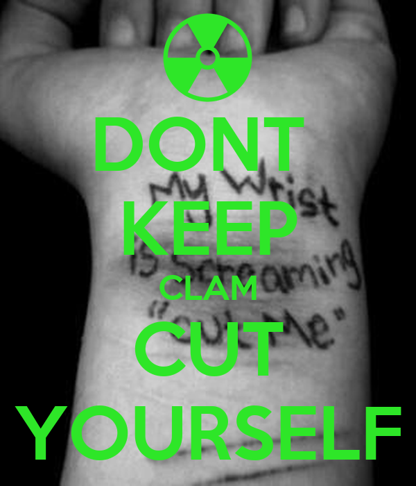 how to cut yourself fastly