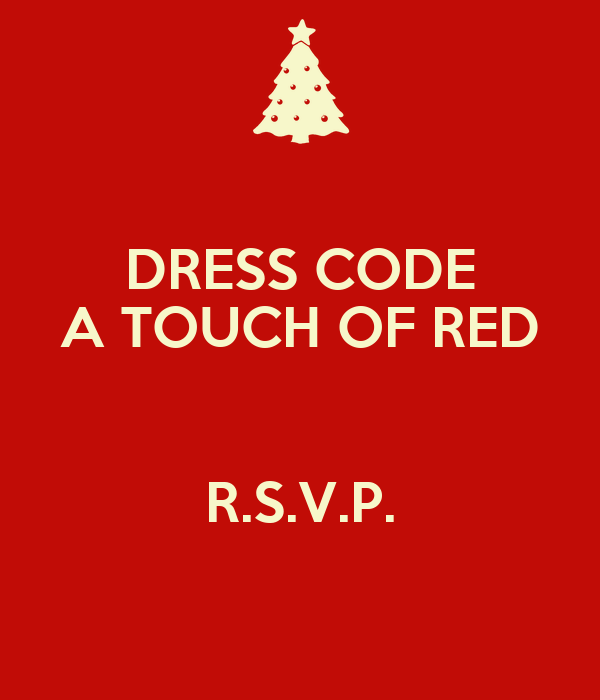 DRESS CODE A TOUCH OF RED R.S.V.P. Poster | DIDI | Keep ...