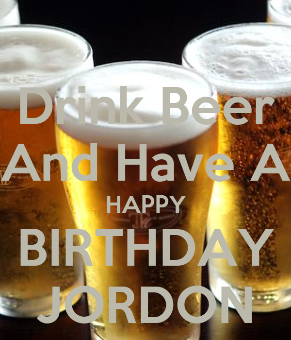 Happy Birthday Drink Beer