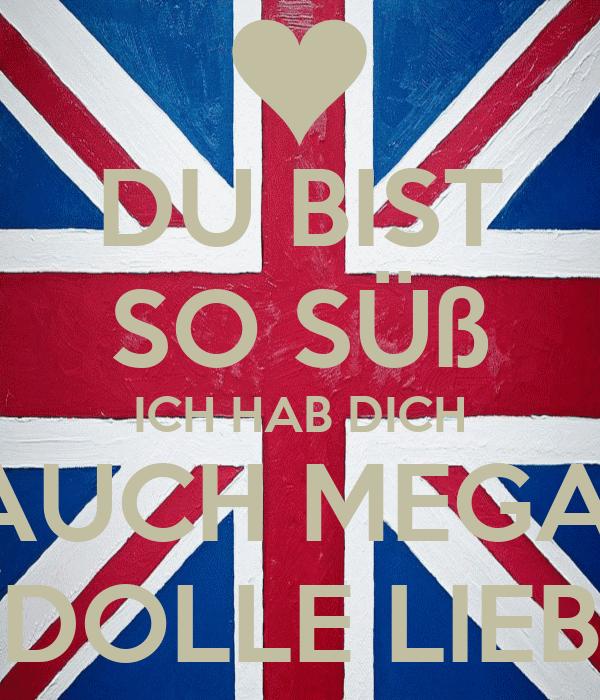 Du Bist So Süß Ich Hab Dich Auch Mega Dolle Lieb Poster Sssc
