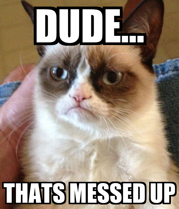 Grumpy cat saying