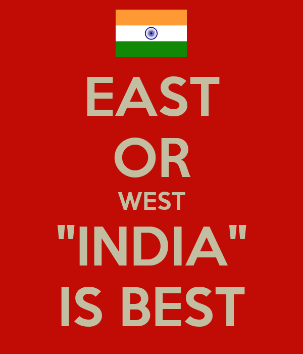 east or west india is the best Lyrics to 'east aur west india is the best (from judwaa)' by anu malik.