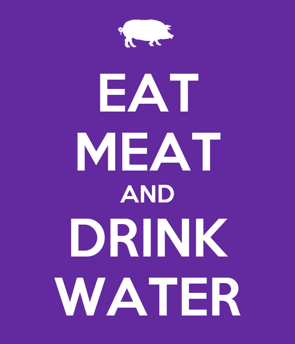 Image result for meat and water