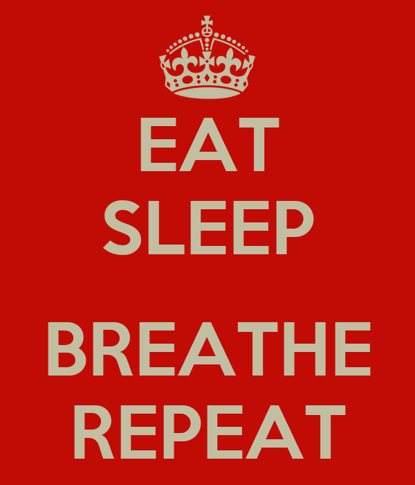 EAT SLEEP BREATHE REPEAT Poster | Zung | Keep Calm-o-Matic