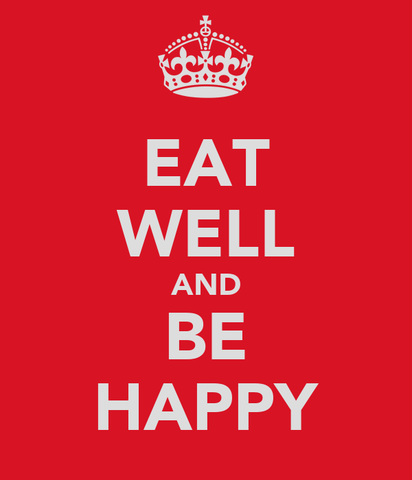 Eat Well And Be Happy Poster Tiger Flower Keep Calm O