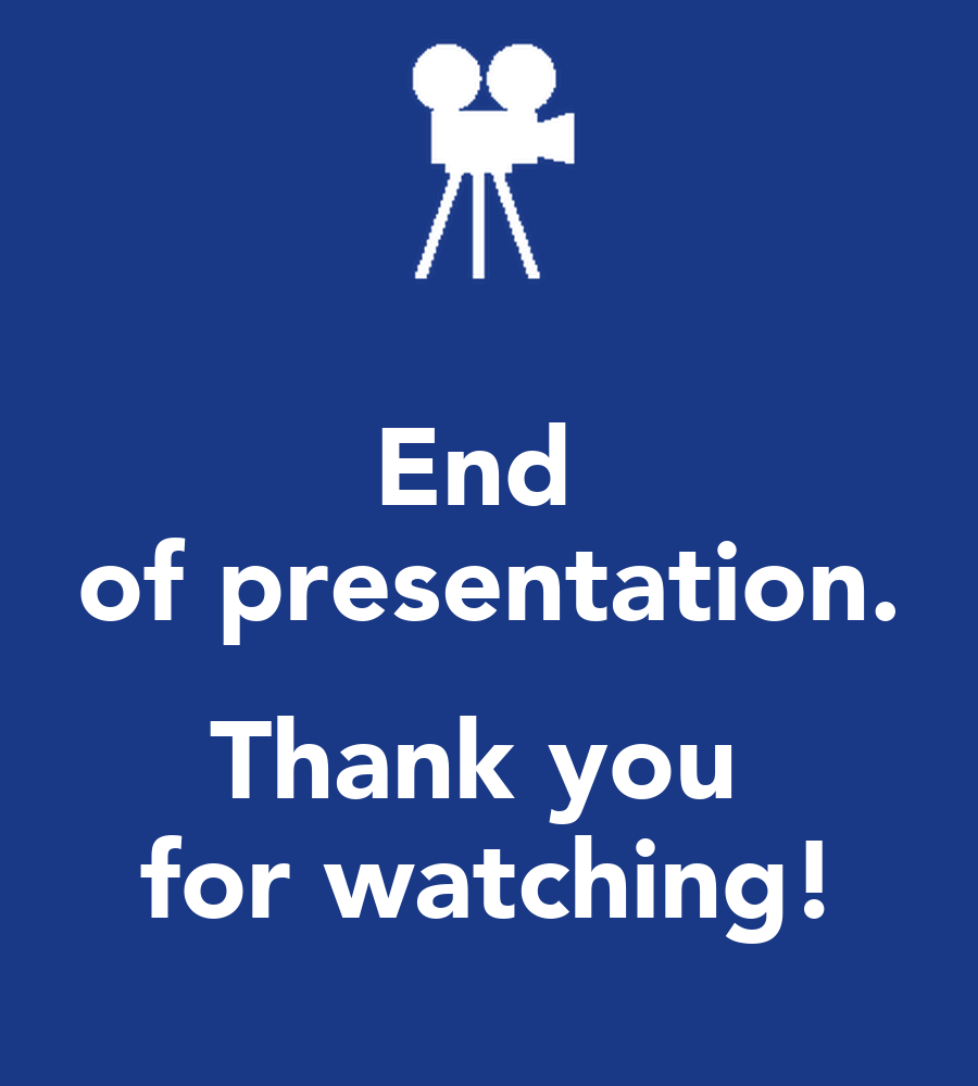 End of presentation. Thank you for watching! Poster | 5ft ...