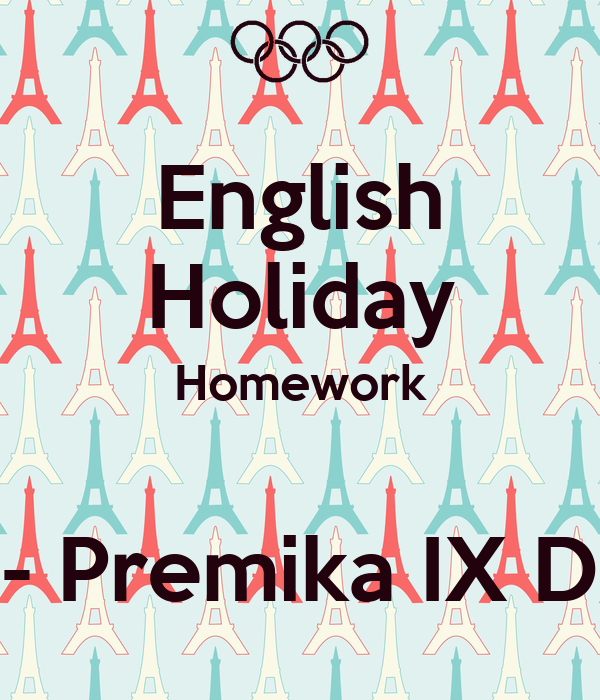 English holiday homework