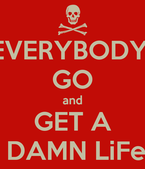 Get A Life: EVERYBODY GO And GET A DAMN LiFe Poster