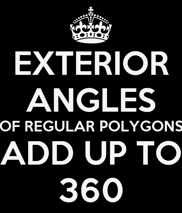 Exterior Angles Of Regular Polygons Add Up To 360 Poster