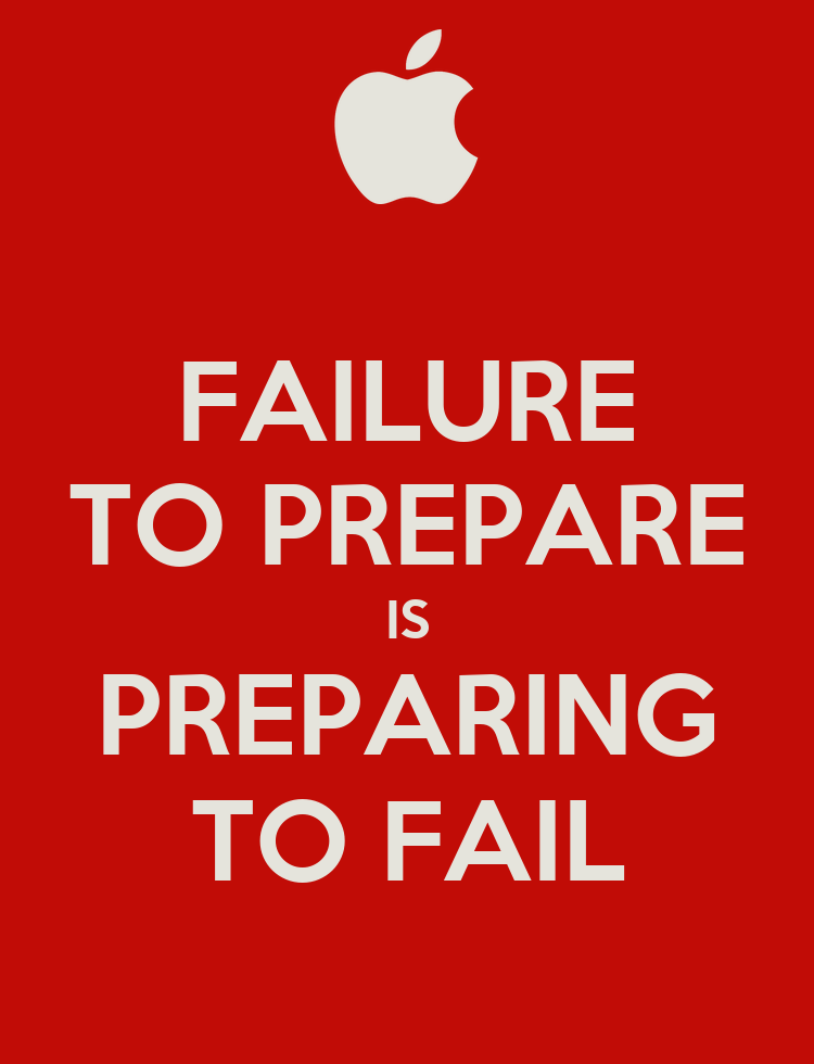 fail to prepare prepare to fail essay You have a prompt in your application packet that is asking you to write about failure a lot of the best advice suggests that you turn this essay about failure into an essay about success.