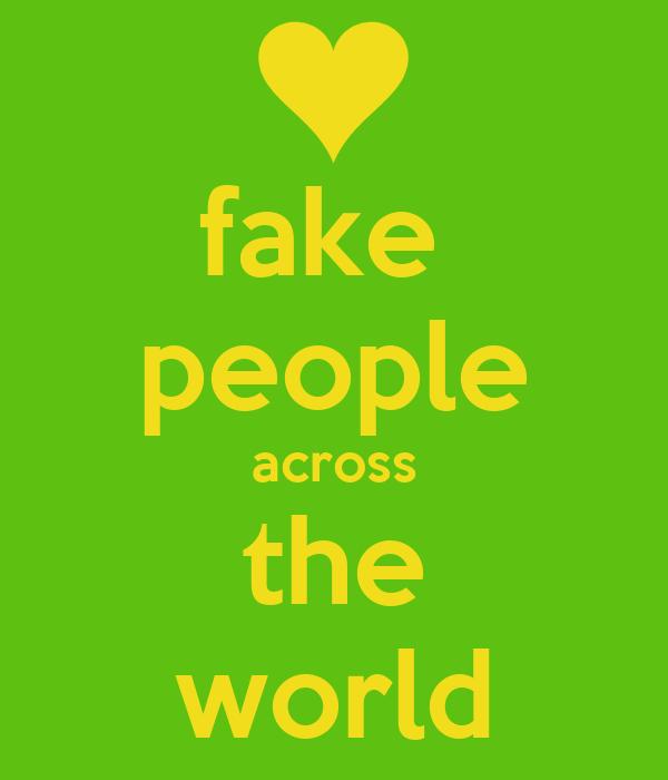 Fake People Across The World Poster Jamaria Keep Calm O Matic