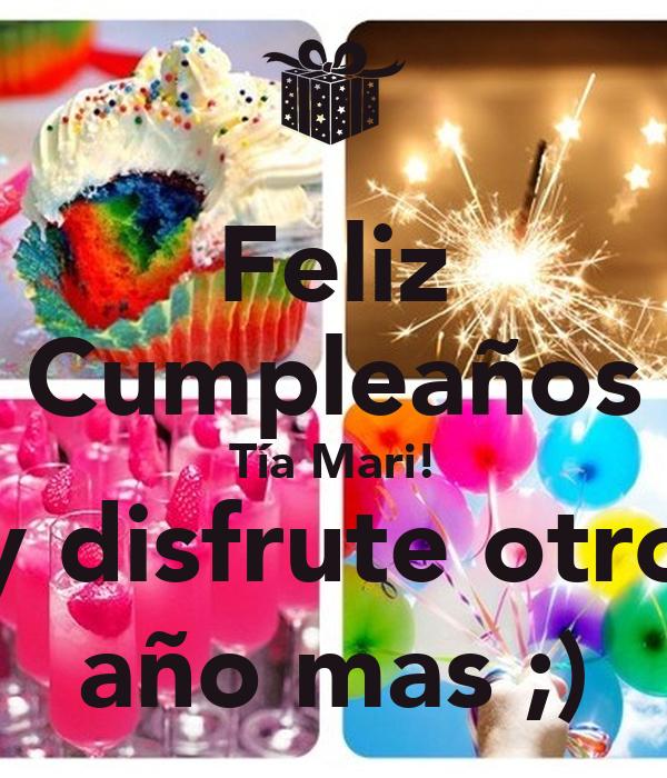 Feliz Cumpleanos Querida Tia Feliz Cumpleaños Tía Mari y