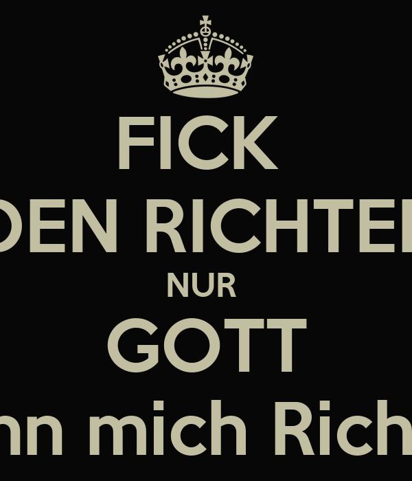Fick Den Richter Nur Gott Kann Mich Richten Poster Abc Keep Calm