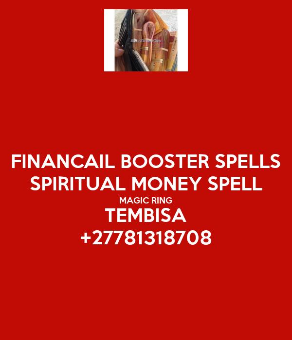 FINANCAIL BOOSTER SPELLS SPIRITUAL MONEY SPELL MAGIC RING TEMBISA +