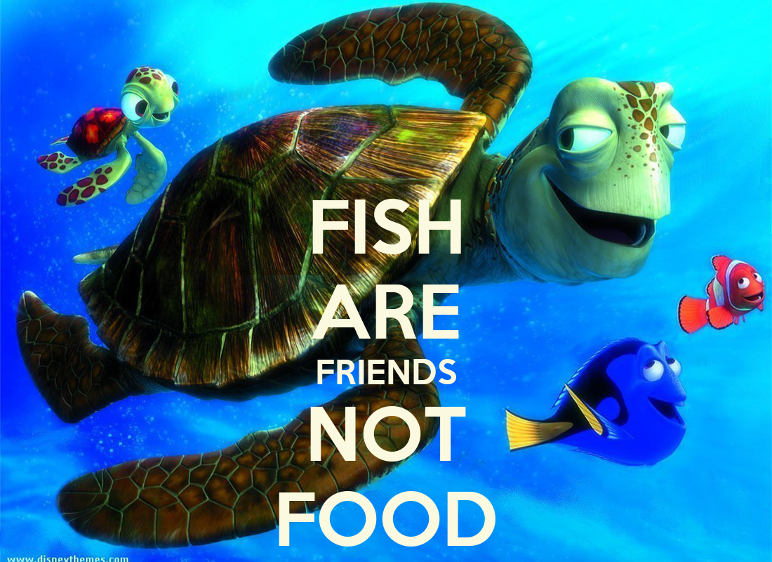 fish are friends not food keep calm and carry on image