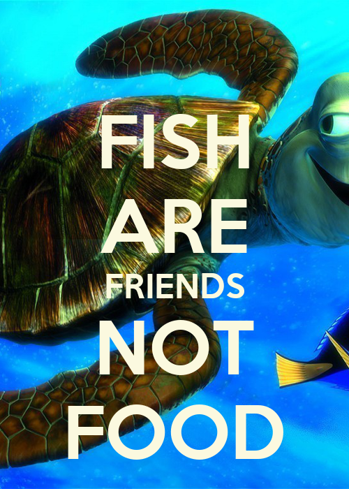 fish are friends not food poster lara keep calm o matic