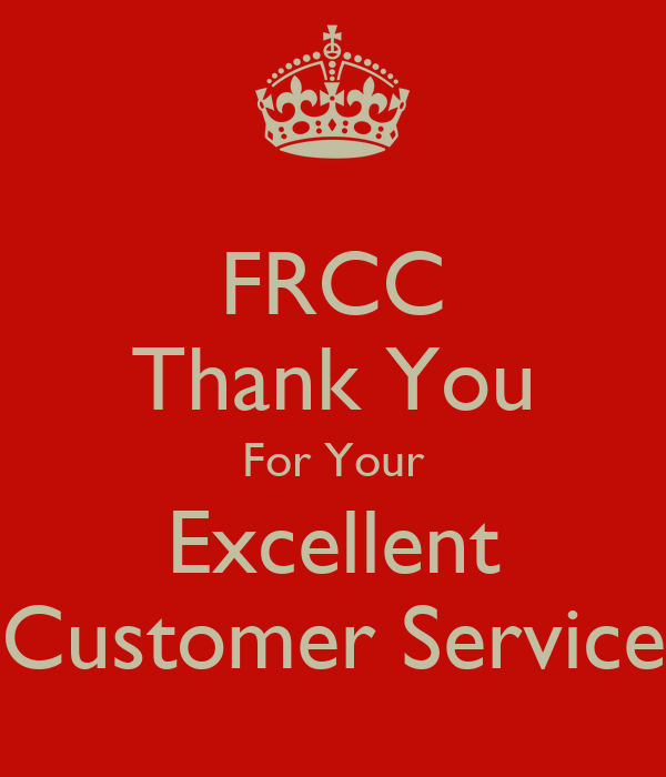 FRCC Thank You For Your Excellent Customer Service Poster
