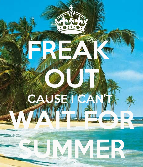 Charming FREAK OUT CAUSE I CANT WAIT FOR SUMMER   KEEP CALM AND CARRY ON Image Ge