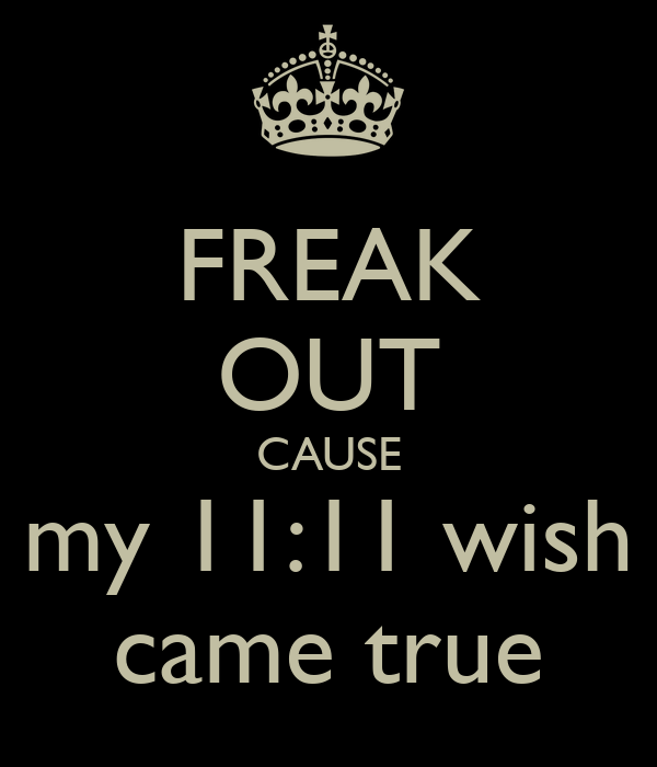 freak out cause my 11 11 wish came true poster tonia johnson