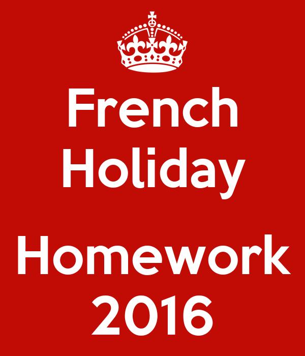 french essays holiday