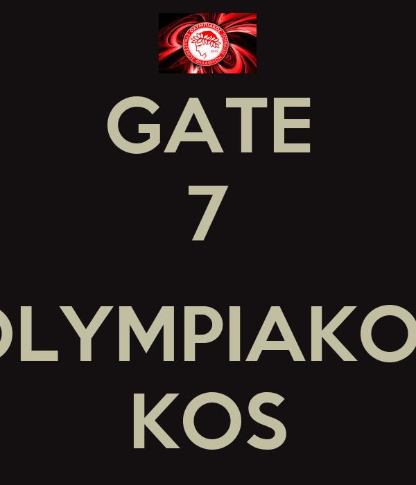 Gate 7 Olympiakos Kos Poster Danni Keep Calm O Matic