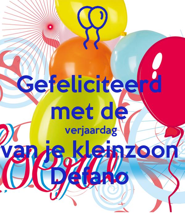 gefeliciteerd met de verjaardag van Gefeliciteerd met de verjaardag van je kleinzoon Defano Poster  gefeliciteerd met de verjaardag van