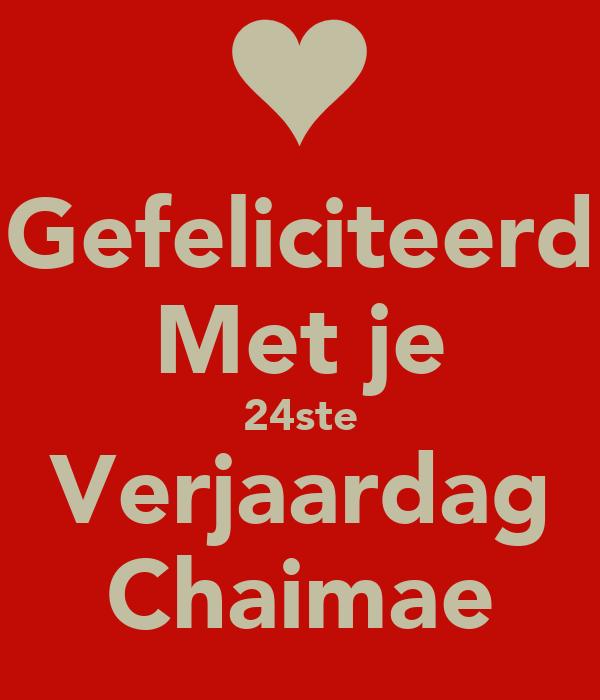Gefeliciteerd Met Je 24ste Verjaardag Chaimae Poster Salim Keep