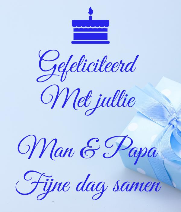 gefeliciteerd met je man Gefeliciteerd Met jullie Man & Papa Fijne dag samen Poster  gefeliciteerd met je man