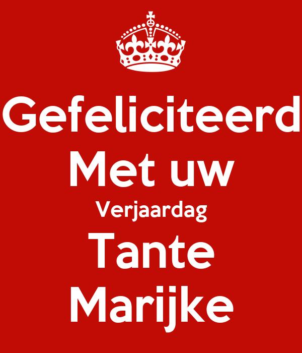 Gefeliciteerd Met Uw Verjaardag Tante Marijke Poster Petraschuijt
