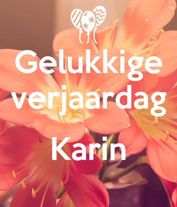 Verjaardag Karin.Gelukkige Verjaardag Karin Poster Virginie Keep Calm O Matic