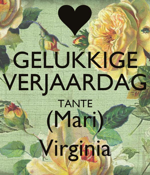 Gelukkige Verjaardag Tante Mari Virginia Poster Danna Keep