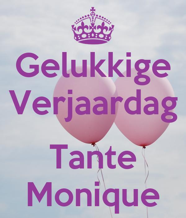 Gelukkige Verjaardag Tante Monique Poster Sonjabertels Keep Calm