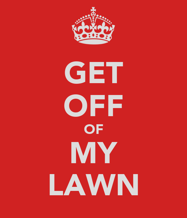 Damn get off my lawn redhead