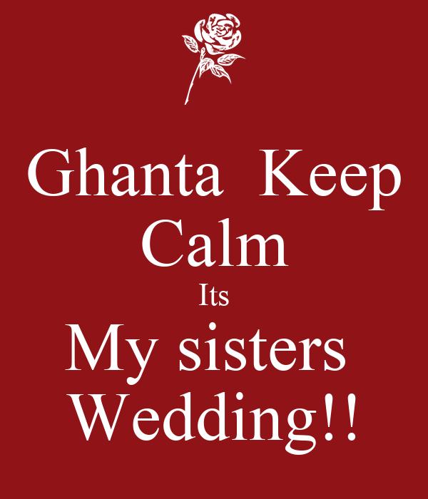 My Sisters Wedding: My Sister`S Wedding [2001]