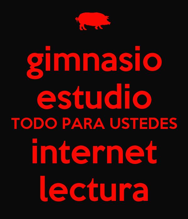 Gimnasio estudio todo para ustedes internet lectura keep - Posters para gimnasios ...