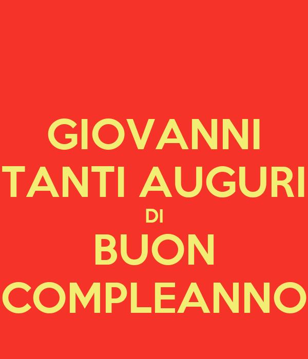 GIOVANNI TANTI AUGURI DI BUON COMPLEANNO Poster | marine ...