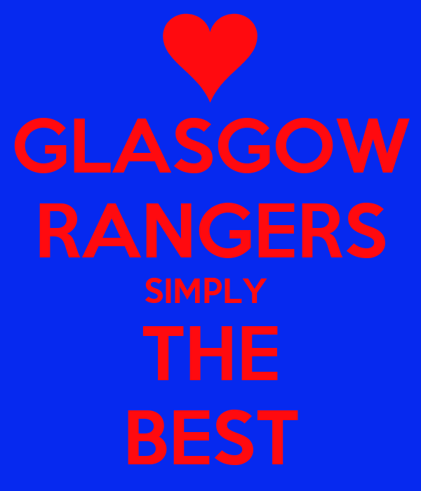 GLASGOW RANGERS SIMPLY THE BEST Poster