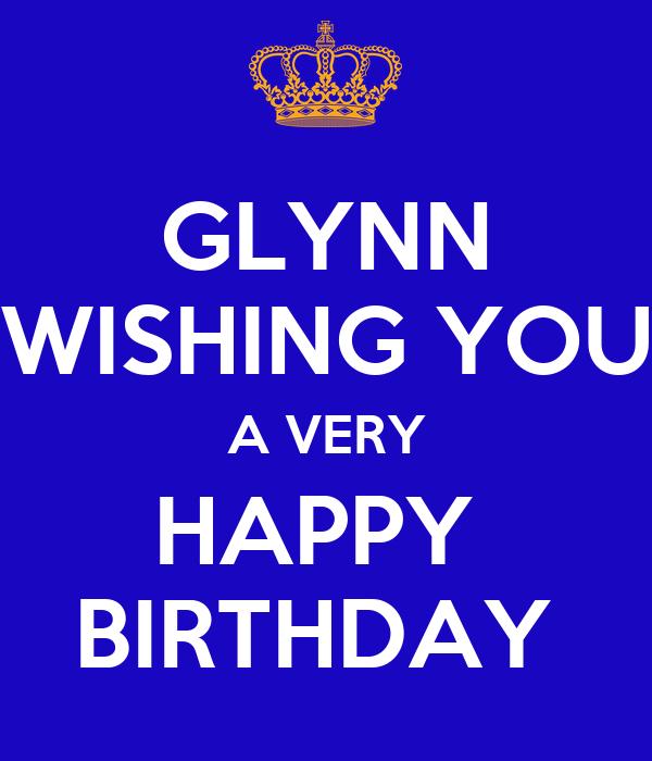 Glynn Wishing You A Very Happy Birthday Poster Clare Happy Birthday Wish You A