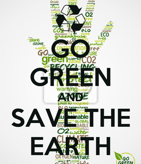 going green means saving green essay