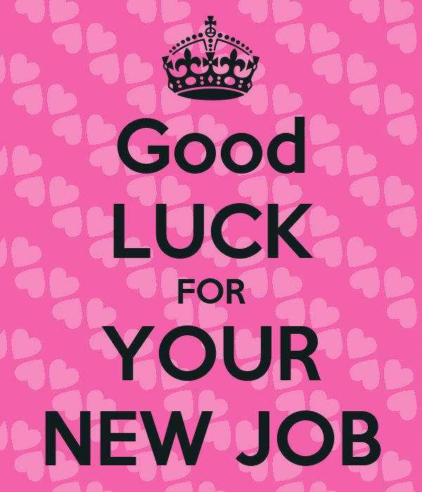 good luck for your new job keep calm and carry on image