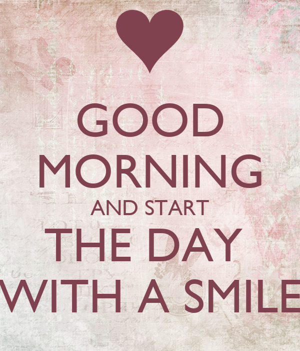 Good Morning And Start The Day With A Smile Poster Mariletta
