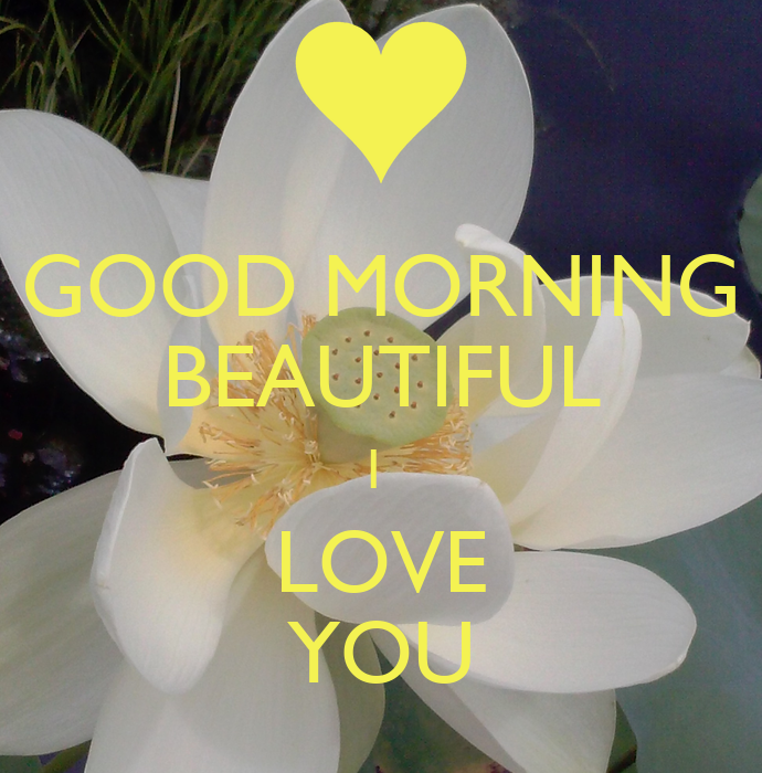 GOOD MORNING BEAUTIFUL I LOVE YOU Poster | %( | Keep Calm ...