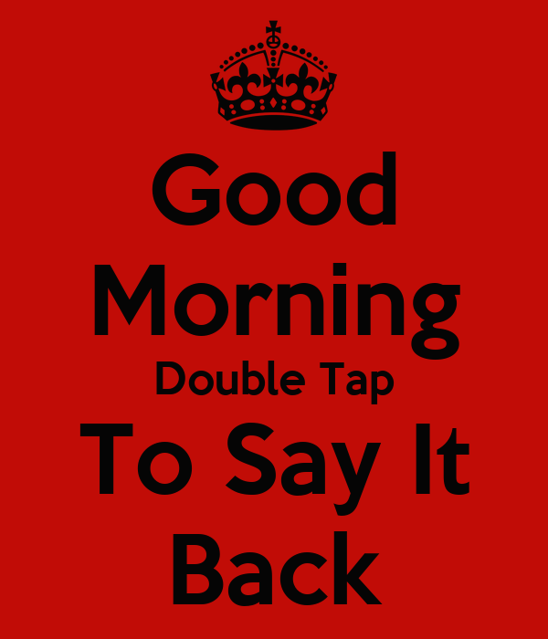 Morning double
